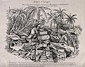 Ichthyosaurs attending a lecture on fossilised human remains Wellcome V0018695.jpg
