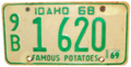 Idaho 1969 license plate.png