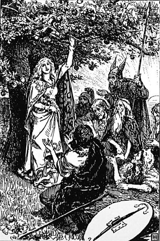 Jötunheimr - Idunn and the Apples of Youth by George Percy Jacomb-Hood.