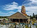 Iglesia de Nercón en restauración y su cementerio.jpg
