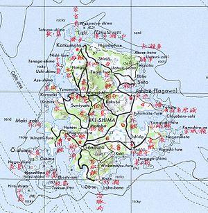 Iki Island - Map of Iki-no-shima