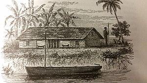 Kindu - Ikondu village as seen by Stanley