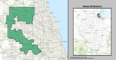 Illinois's 6th congressional district - since January 3, 2013.
