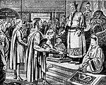 Sebuah ilustrasi kedutaan besar Romawi Timur menghadap Kaisar Tang Taizong pada 643