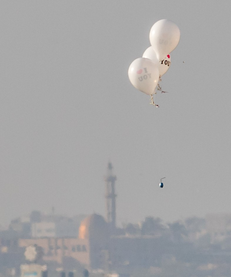 Incendiary balloons from Gaza strip