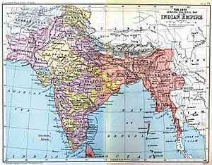 India Office Records - The British Indian Empire in 1893