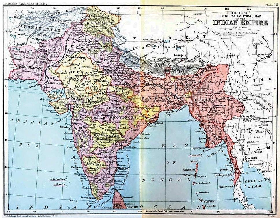 IndiaPolitical1893ConstablesHandAtlas