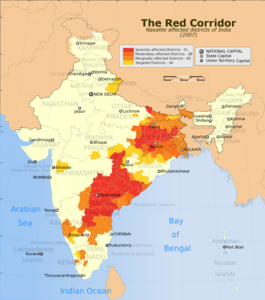 India Red Corridor map.png