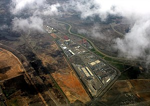 Economic development in India - An industrial zone near Mumbai,India.