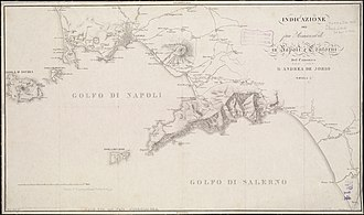 Battle of Capo d'Orso - The Gulfs of Naples and Salerno (Andrea Jorio, 1819).