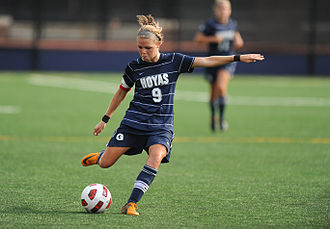 Georgetown Hoyas - Ingrid Wells helped the women's team reach the 2010 NCAA College Cup quarterfinals.