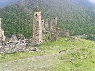 Vainakh tower architecture - Ruins of Medieval Vainakh settlement.