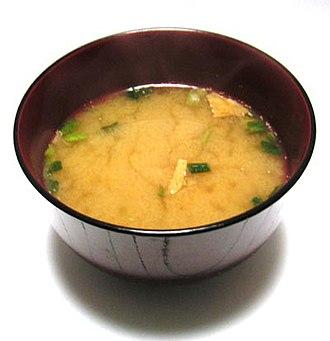 Asian soups - Image: Instant miso soup