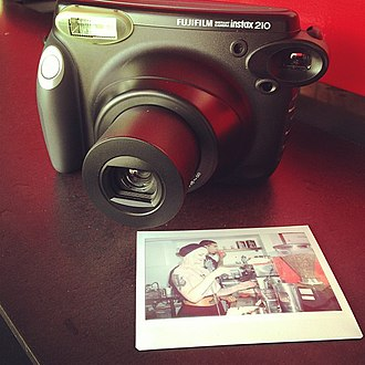 Instant camera - Fujifilm Instax 210 with instant photograph