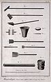 Instruments used in the process of salt extraction. Etching Wellcome V0023581EL.jpg
