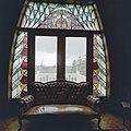 Interieur, eerste verdieping, kamer, glas in loodraam - Molenhoek - 20002594 - RCE.jpg