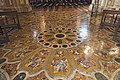 Interior of Santi Giovanni e Paolo (Venice) - Chapel of St. Dominic - polychrome marble floor.jpg