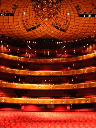 New York City Opera - The New York State Theater auditorium as seen from the stage (now the David H. Koch Theater)