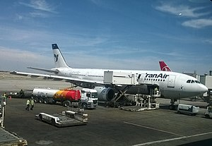 Tehran Imam Khomeini International Airport - Iran Air Airbus A300-600R, being refuelled at Imam Khomeini International Airport.