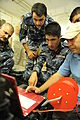 Iraqi army explosive ordnance disposal (EOD) soldiers learn how to operate a portable x-ray unit during EOD training in the Kirkuk province of Iraq Sept 100901-A-DM673-062.jpg