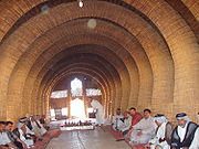 The interior of an Iraqi mudhif