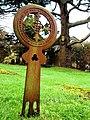 Iron grave marker in Corton Denham Churchyard - geograph.org.uk - 1635459.jpg
