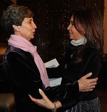 Isabel Allende con CFK