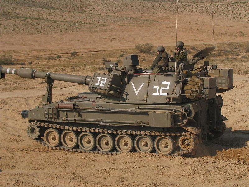 المدفعيه المصريه والسوريه والاسرائيليه  800px-Israeli_Doher_M109