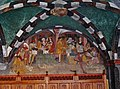 Issogne Castello d'Issogne Innenhof Fresken 03.jpg