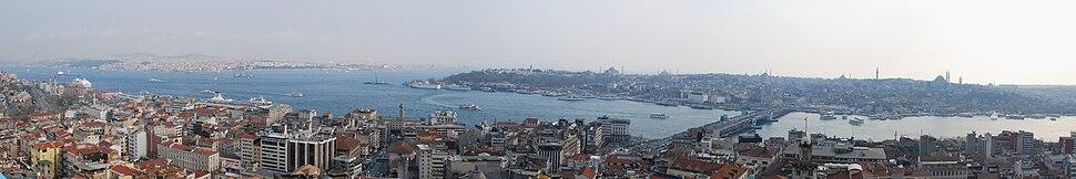 Πανοραμική εικόνα της Κωνσταντινούπολης