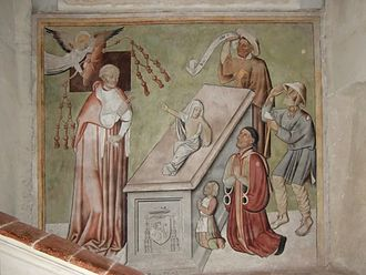 Ivrea - Unknown painter, second half of 15th century, A Miracle of the Blessed Pierre de Luxembourg (Cathedral).