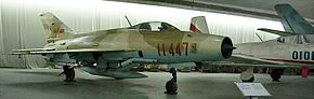 J-7I fighter at the China Aviation museum.jpg