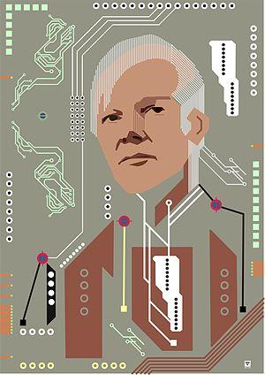 English: portrait of Julian Assange in Digital...