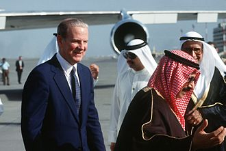 James Baker - Baker arriving in Kuwait, 1991