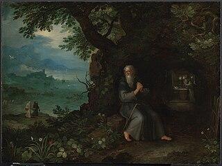 Landschaft mit Hl. Fulgentius