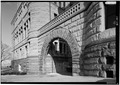 January 1975 VIEW OF ARCH FROM SOUTHWEST - Wayne County Courthouse, Courthouse Square, Richmond, Wayne County, IN HABS IND,89-RICH,3-13.tif