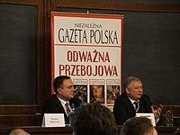 Jaroslaw Kaczynski i Tomasz Sakiewicz UW.JPG