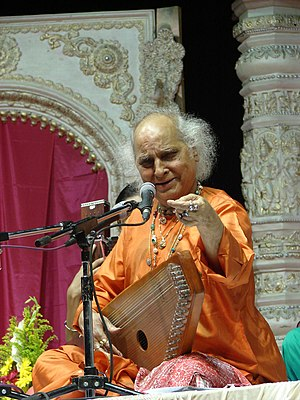 Swarmandal - Pandit Jasraj with a swarmandal