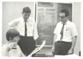 Jerry McClearn, John DeFries and Nancy Founding IBG, Fall 1967.png