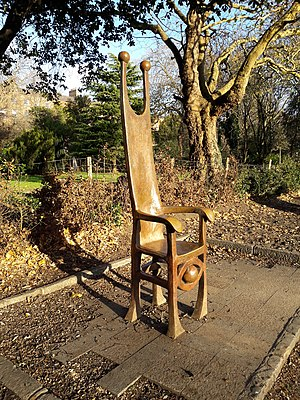 Merrion Square - The Joker's Chair, built in memory of comedian Dermot Morgan