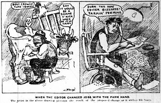 Jimmy Frise - Frise's first published cartoon Star Weekly, 12 November 1910