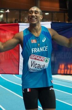 Vicaut op de EK indoor in 2013.