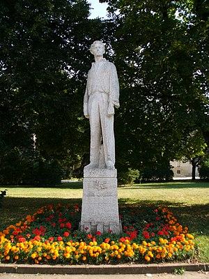 Jiří Wolker - statue of Jiří Wolker in Prostějov
