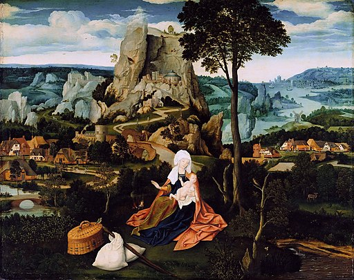 Joachim Patinier - The Rest on The Flight into Egypt (Gemäldegalerie, Berlin)