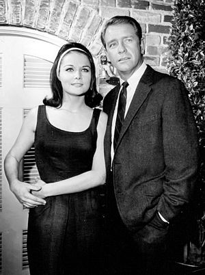 Joan Blackman - Blackman and Richard Crenna in Slattery's People, 1965.