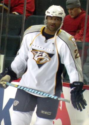 Joel Ward (ice hockey) - Ward playing for the Predators in 2010