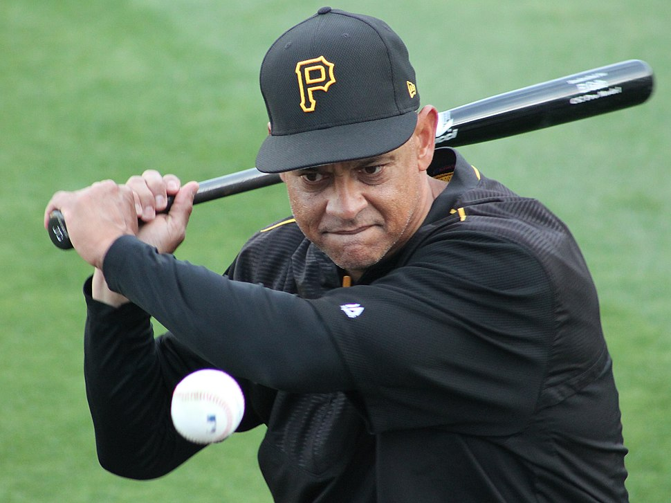 Joey Cora coaching the Pittsburgh Pirates in 2017