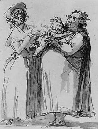 1793 in Sweden - Johan Tobias Sergel, självporträtt från 1793