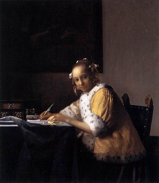 File johannes vermeer a lady writing a letter wga24650 - La lechera de vermeer ...