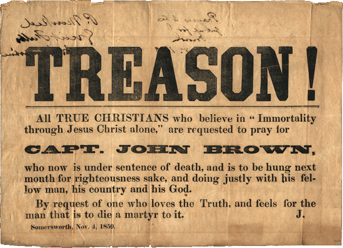 John Brown - Treason broadside, 1859